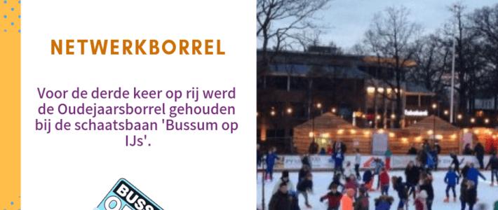 Oudejaarsborrel bij Bussum op IJs